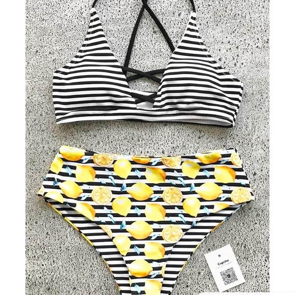 a738bacb88332a cupshe Swim | Cup She Forever Yours Bikini Sz Sm | Poshmark